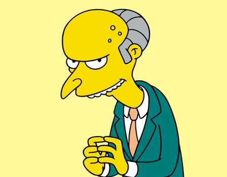 Señor Burns - Serie Simpson